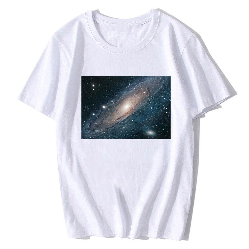 Andrómeda Galaxy telescopio Hubble astronomía imagen del espacio camiseta hombres algodón o-cuello camiseta divertida camisetas Tops