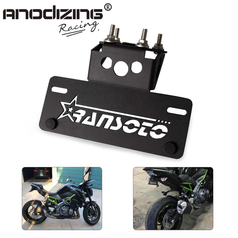 Motorcycle Fender License Holder Eliminator Plate Frame Bracket For KAWASAKI Z900 Z 900 2017 2018 2019 2020