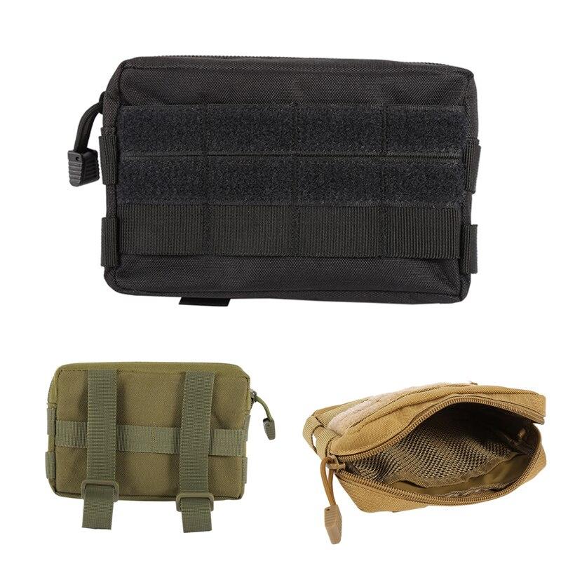 Funda Modular táctica militar de Nylon 600D, Airsoft, MOLLE, pequeña bolsa de utilidad EDC, impermeable, Mini bolsa de herramientas de engranaje abierto, bolsa