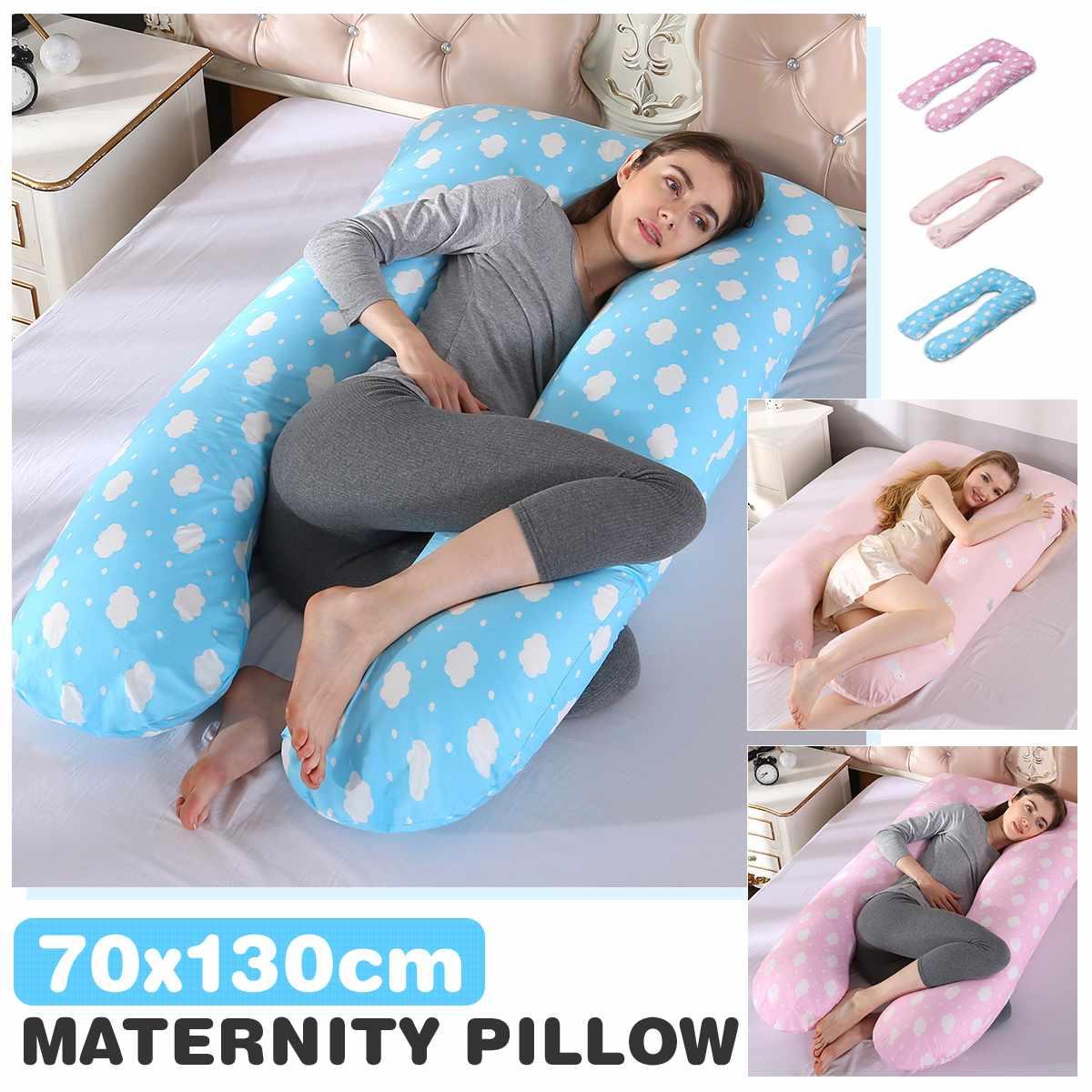 وسادة حمل كبيرة على شكل حرف U ، 32x30x15 سنتيمتر ، مريحة ، للأمومة ، للجسم ، للحمل ، للنساء الحوامل ، للنوم على الجانب