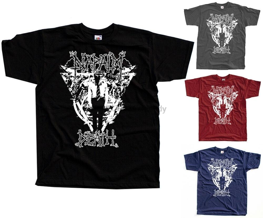 Napalm morte grindcore mark greenway camiseta (preto grafite tijolo marinha) S-5XL