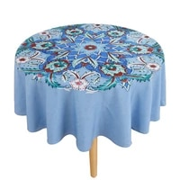 hot sale european pattern round table cloth waterproof household table cloth disposable dustproof tea table cloth