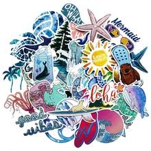 50pcs Summer Beach Stickers Surfing Sea Turtle Decal  VSCO For Laptop Fridge Phone Skateboard Suitcase Girl Flask Sticker F3