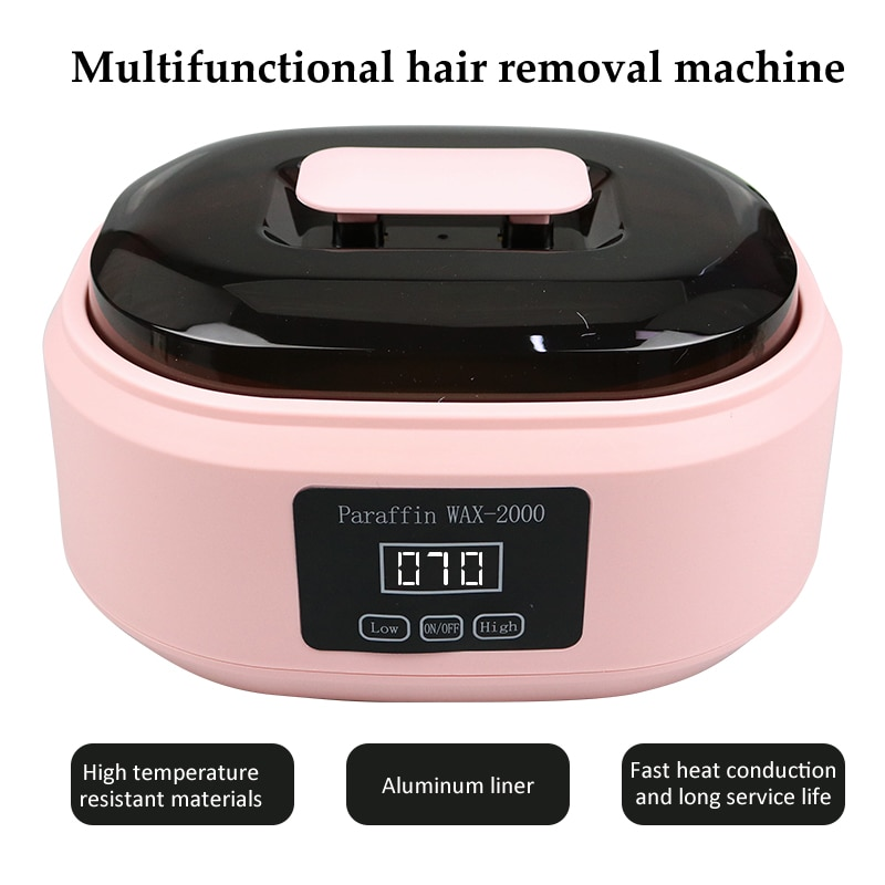 Hair Removal Tool Hands Feet Epilator Personal Depilatory Smart Wax Heater Skin Care Paraffin Wax Machine With LCD Display