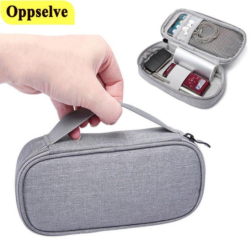 Bolsa portátil de 20000mAh, organizador de cables electrónicos para auriculares, bolso de...