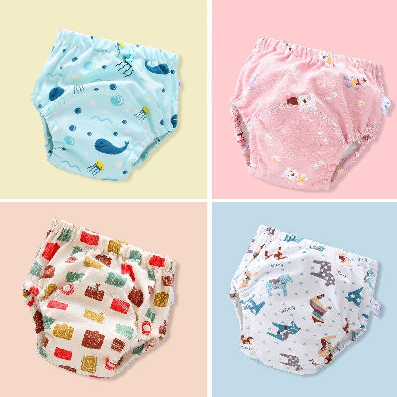 Многоразовые моющиеся подгузники для младенцев, подгузники, трусики с карманами, подгузники, 6-слойные подгузники для мальчиков и девочек