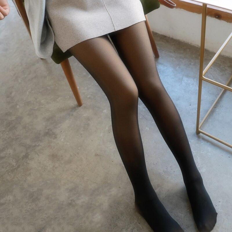 450g invierno grueso más terciopelo negro piel de imitación mujer medias pantimedias Sexy pantimedias gruesas 80g primavera otoño 501