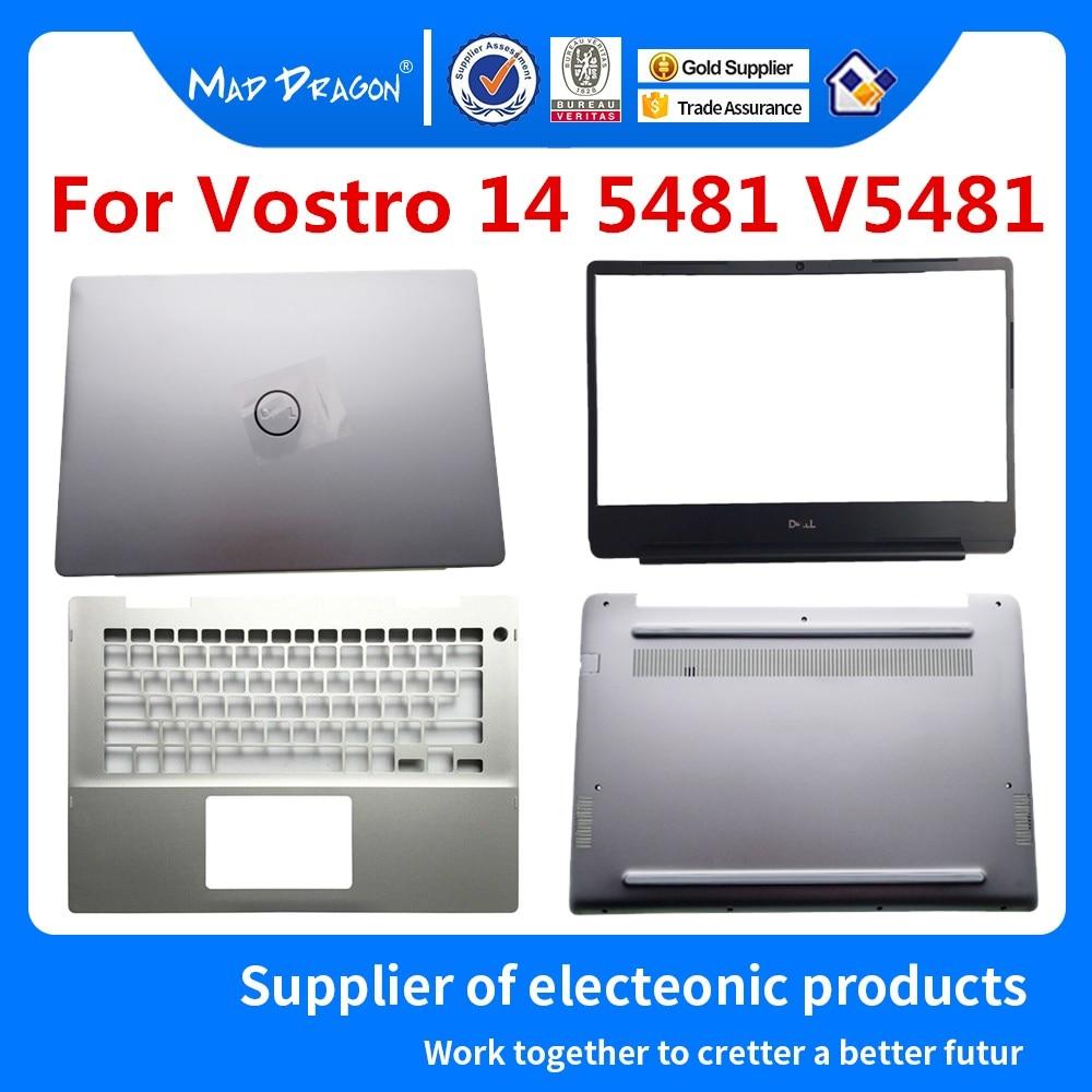 LCD Back Cover LCD Front Bezel PalmrestBase Lid Back For Dell vostro 14 5481 v5481 Silver R27DN 0R27DN 04Y3M8 041KVJ 0J9MC3
