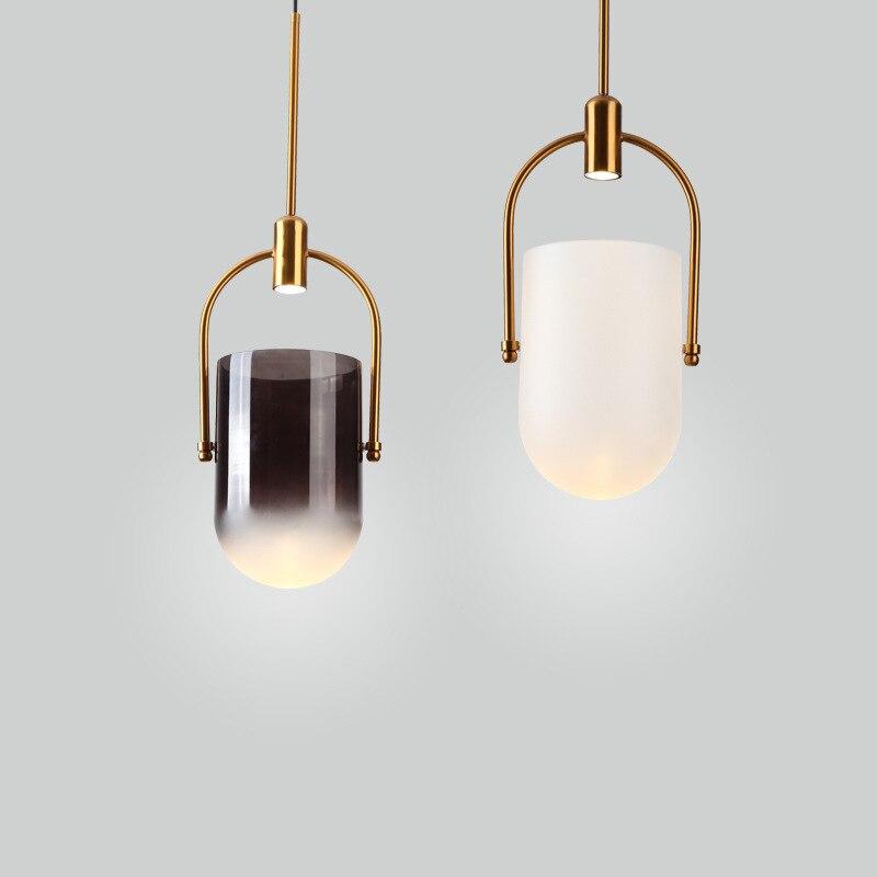 الحد الأدنى الأبيض قلادة أضواء الحديثة الإبداعية قلادة معلقة أضواء الشمال تصميم Lustres دي Plafond غرفة الطعام ديكور EI50DJ