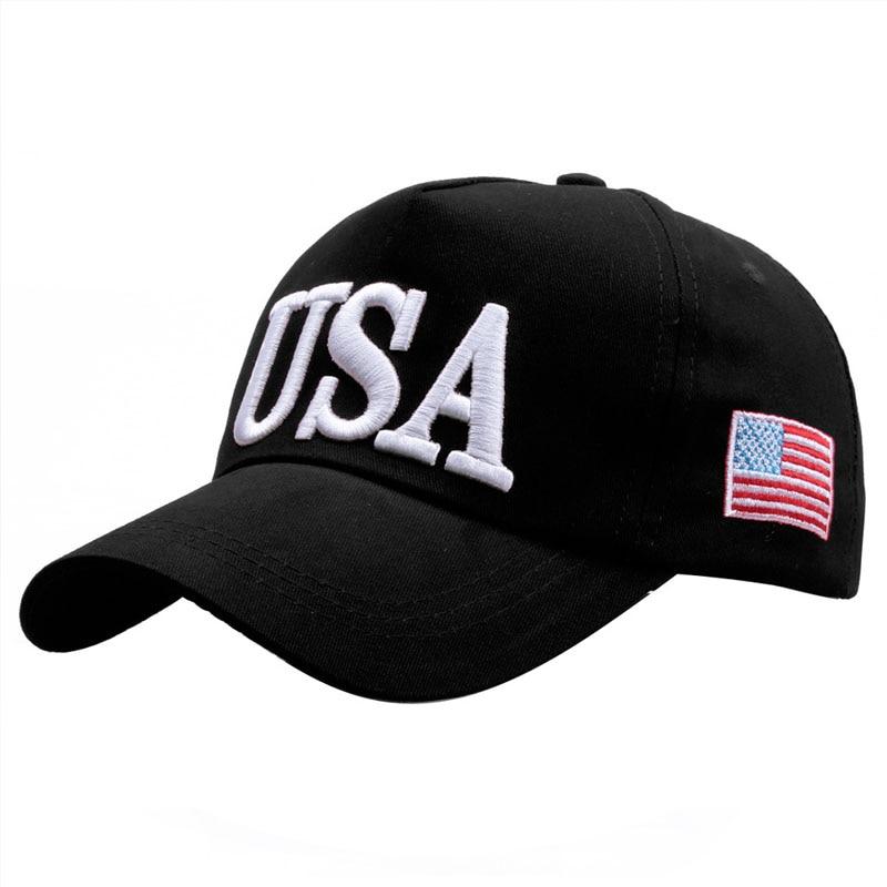Venta al por mayor el Presidente Trump campaña 2020 gorra de béisbol EE. UU. 45 bandera americana 3D bordado gorra de camionero con ajuste trasero gorras gorra Bone