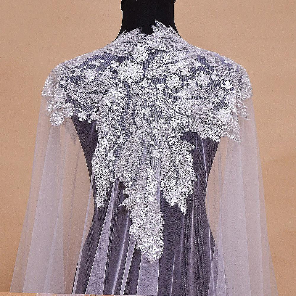 Luxury Bridal Shawl Wedding Cape Party Evening Dress Shoulder Jewelry Women 3m Long Chapel Veil Brides Accessories