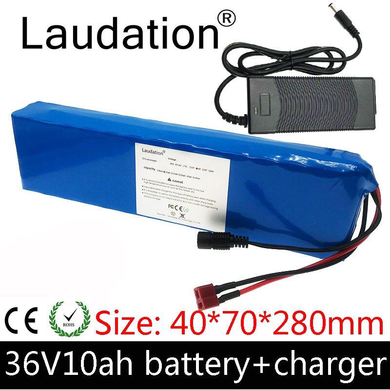 Laudation 36V10ah литиевая батарея 10S 3P 36V 10ah батарея для электрического велосипеда 500W E электрический велосипед с зарядным устройством 2A