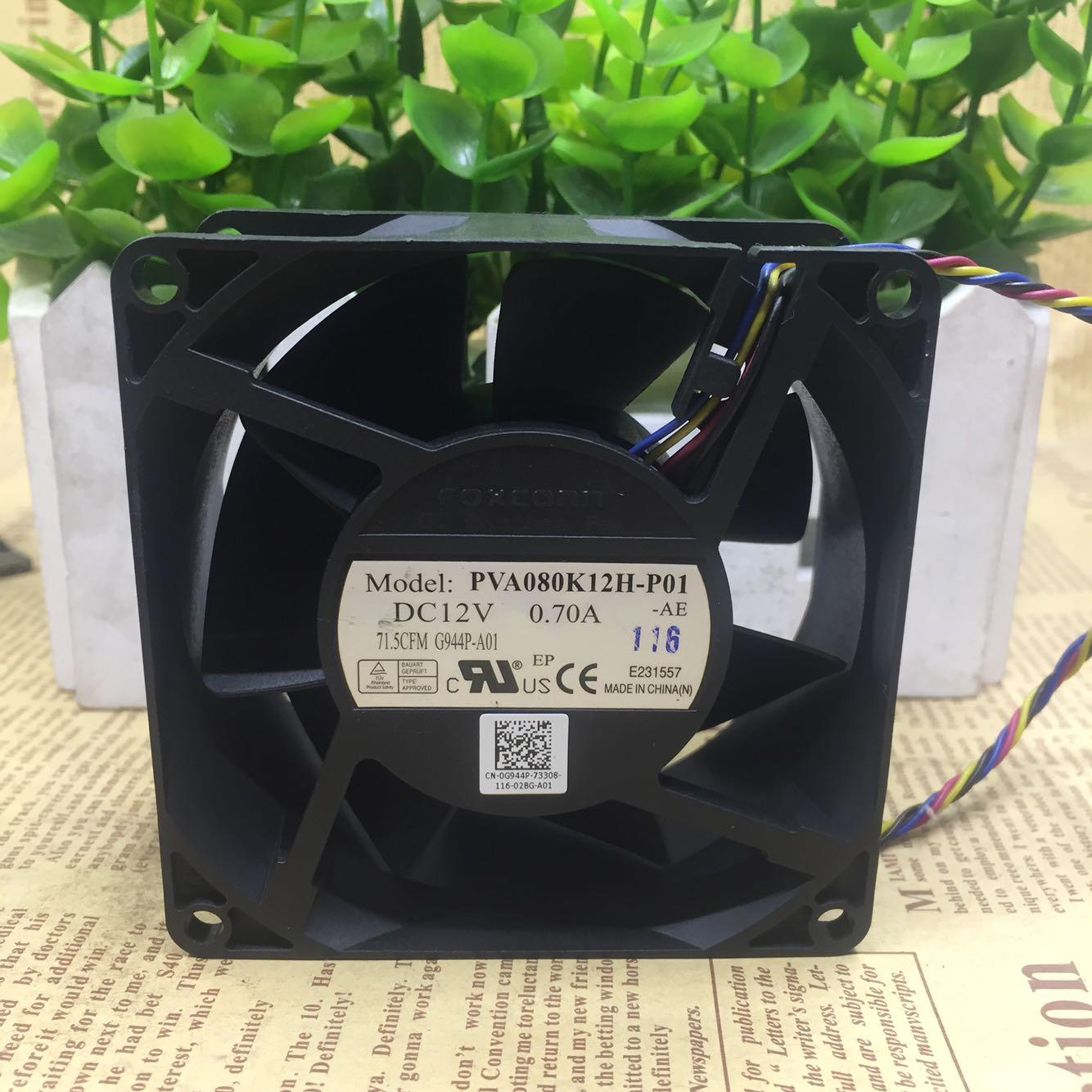 Для Foxconn foxcoon PVA080K12H-P01 8038 8CM 12V 0.70A Fan