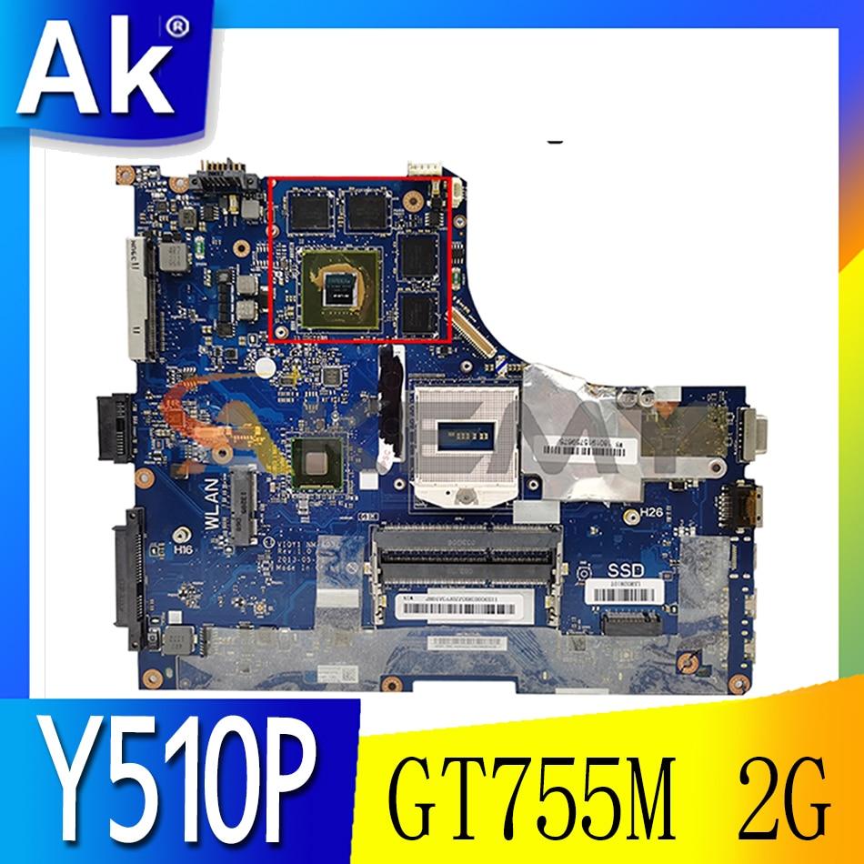 Akemy VIQY1 NM-A032 لينوفو Y510P اللوحة المحمول 11S 90003641 90002926 PGA94 GT755M 2G DDR3 100% شحن مجاني