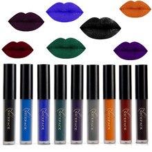 9 farbe Flüssigen Lippenstift Wasserdicht Lang Anhaltende Kosmetische Schwarz Blau Lila Grün Matte Machen Up Lip Gloss Nackte Lippenstift Halloween