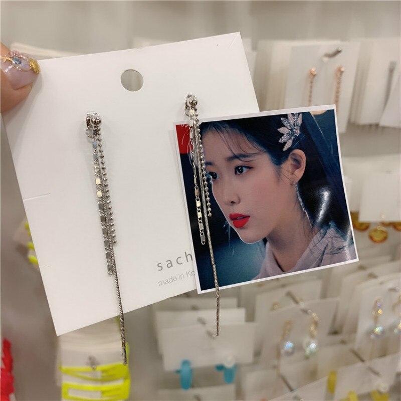 Vintage geométrica mujer cuelga los pendientes coreanos Laminar flecos pendientes bohemios gota pendientes joyería pendientes