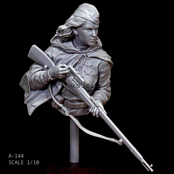 1/10 Resin Bust Kits Hero woman sniper self-assembled  A-144