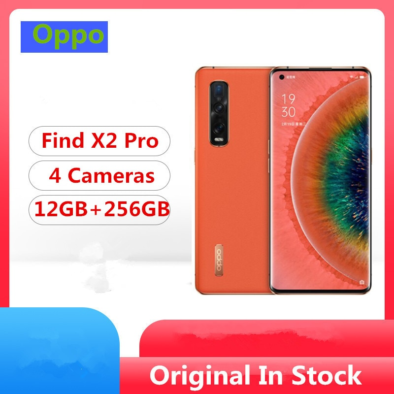 "Original Oppo encontrar X2 Pro 5G teléfono móvil Snapdragon 865 Android 10,0 de 6,7 ""120HZ 3168X1440 12GB de RAM 256GB ROM 48.0MP 65W cargador"