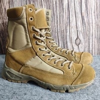 outdoor boots mens leather special forces military fans high top desert jungle mountaineering work shoes combat training boots