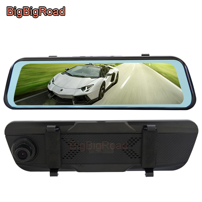 BigBigRoad For BMW 6 Seires GT 640i 650i 630i M5 M6 M8 Car DVR Video Recorder Dash Camera Stream RearView Mirror Touch Screen