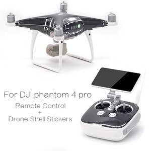 Drone Shell + Remote Control Stickers skin 3M Waterproof PVC Carbon fiber Pattern Decals For DJI Phantom 4 Pro Accessories