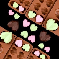 chocolate cake decoration mold 15 mini chocolate cavities candy silicone mold baking tools cake kitchen accessories