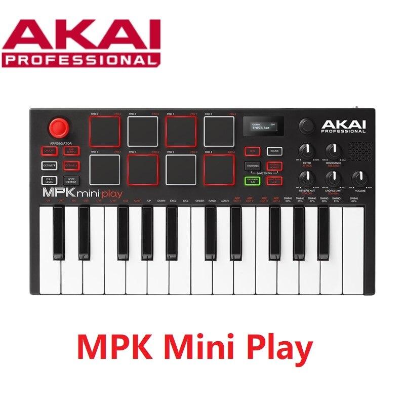 Tragbare AKAI MPK mini spielen mini tastatur mit gebaut-in lautsprecher und USB MIDI controller