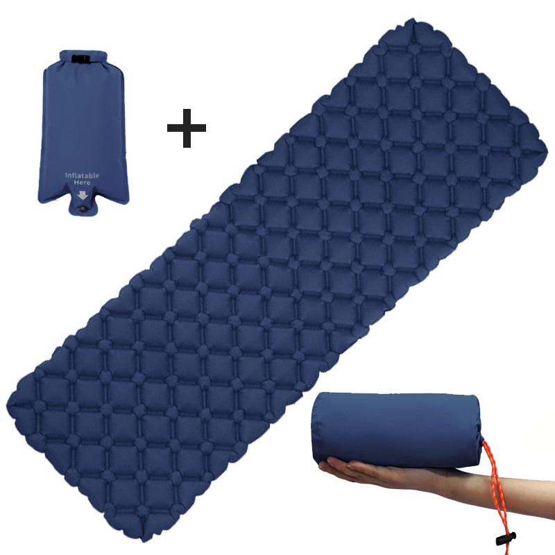 Outdoor Inflatable Mattress Diamond Ultra-Light Camping Mat Hiking  Air Cushion Portable Sleeping Mat Damp Proof Waterproof Pad недорого