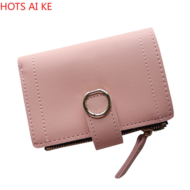 Women Wallets Small Fashion Brand Leather Purse Ladies Card Bag for 2021 Clutch Female Money Clip Wallet
