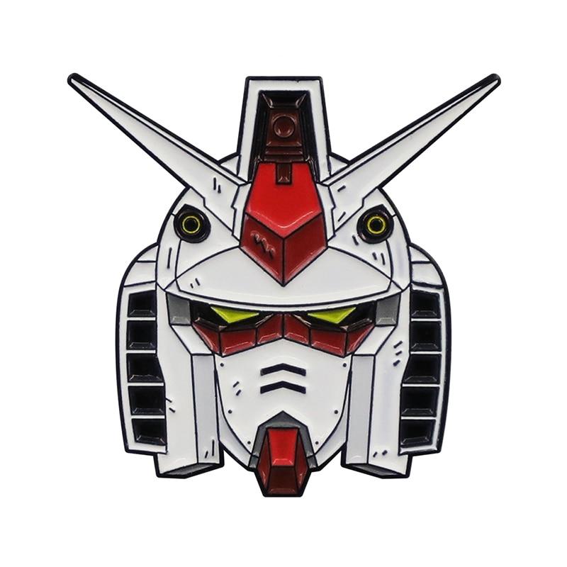 Голова RX-78 мобильного костюма эмалированная булавка Добро пожаловать в Gundam!