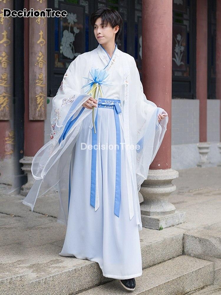 زي hanfu الصيني القديم للرجال والنساء ، للهالوين ، للأزواج ، hanfu ، باللون الأبيض ، 2021