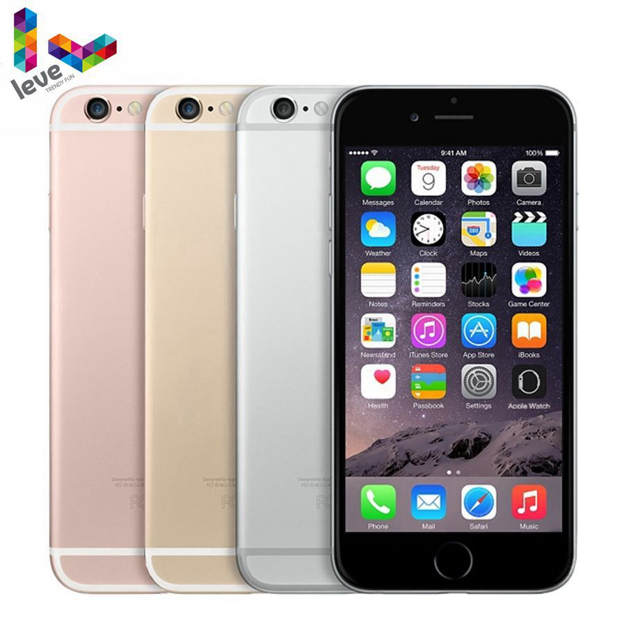 Promo Unlocked Apple iPhone 6S 4G 4.7″ 2GB RAM Original iOS 16&32&64&128GB ROM Bluetooth Dual Core Fingerprint LTE Used Mobile Phone