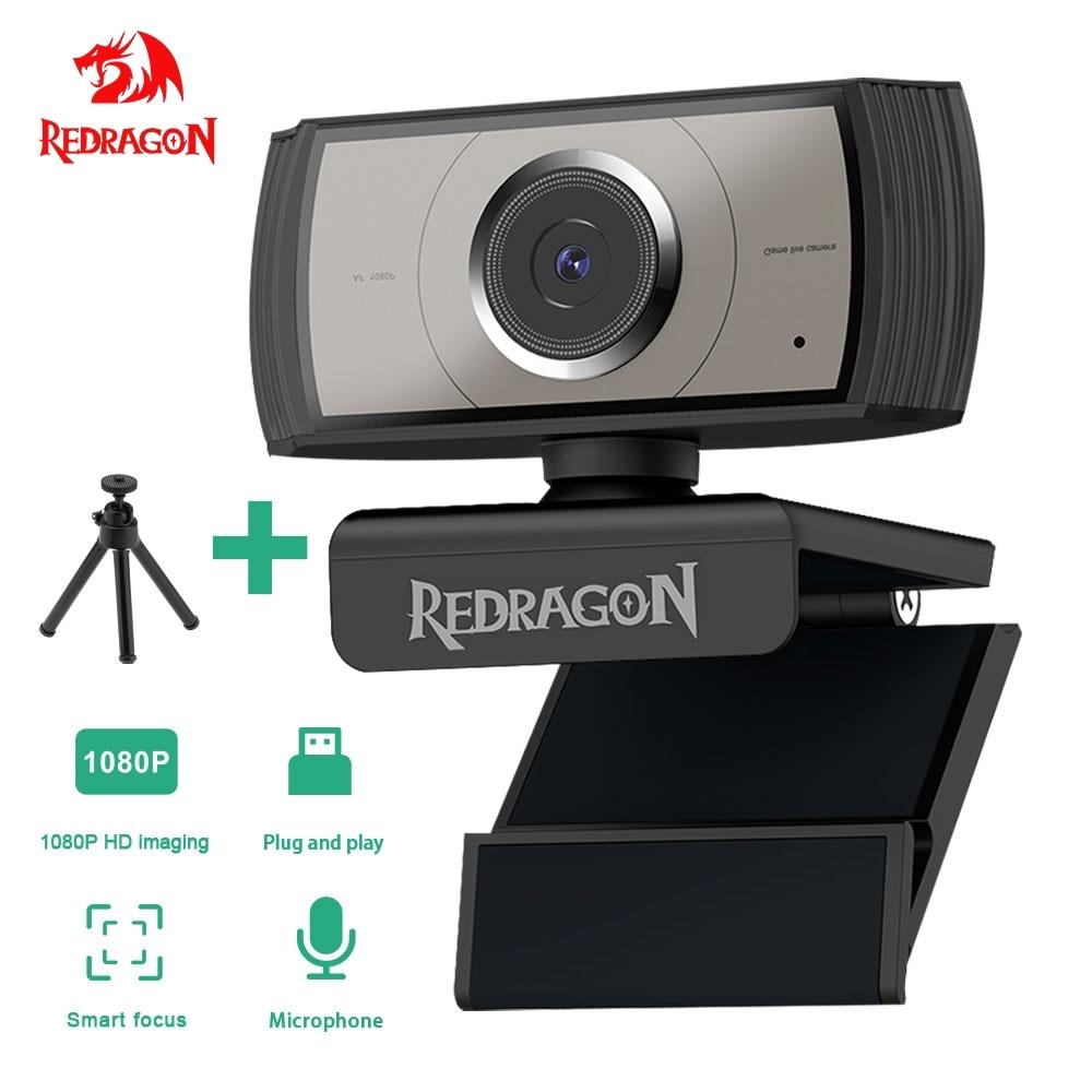 REDRAGON GW900 APEX USB HD Webcam autofocus Built-in Microphone 1920 X 1080P 30fps Web Cam Camera for Desktop Laptops Game PC