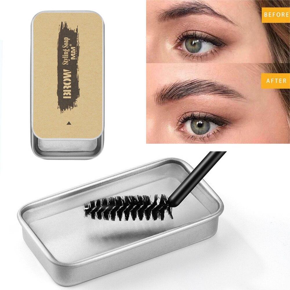 Gel de maquillaje 3D con cejas de plumas, Gel de ajuste Kit de maquillaje de estilo de cejas a prueba de agua Gel de cejas duradero mujeres pomada para teñir cosméticos, 1 Uds.