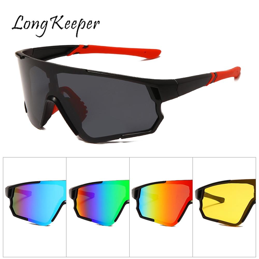LongKeeper Polarized Sunglasses Men Outdoor Sport Goggles Yellow Lens Men's Glasses Driving Glasses Fishing Shades Gafas De Sol