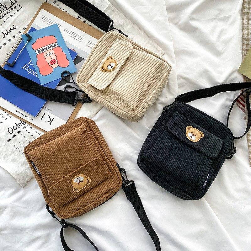 Сумки для женщин 2020 модные брендовые новые сумки-мессенджеры с вышивкой из мультфильма холщовые сумки женские Мини кошельки повседневные сумки через плечо