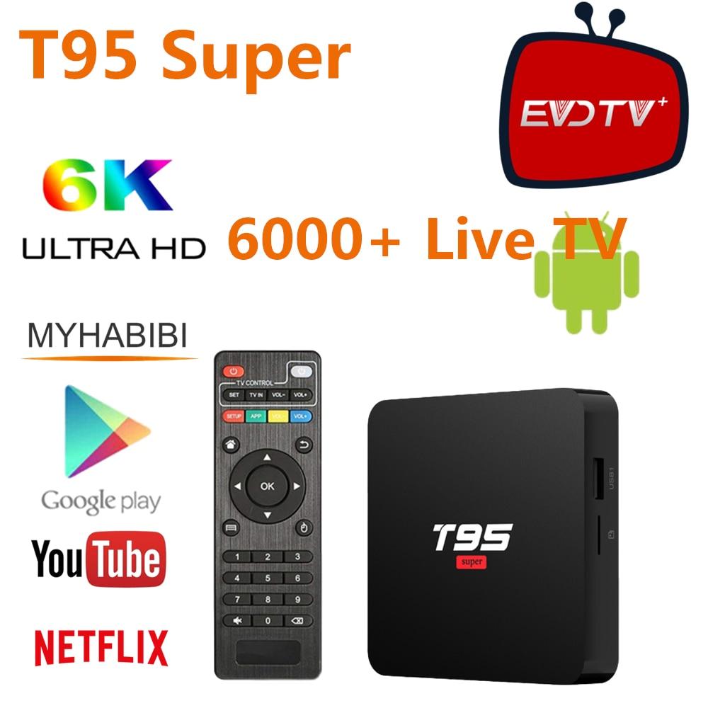 En directo/Live 4K Ultra IPTV M3u EPG EVDTV EE. UU. Canad T95 Super Set Top caja árabe Oriente Medio Israel Egipto irán francés España T95 Tv Box