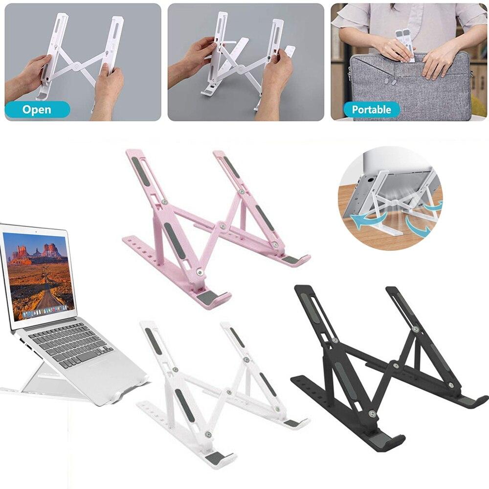 Laptop Stand Tablet Holder Desktop Foldable Adjustable Riser Bracket Portable Notebook & Accessories