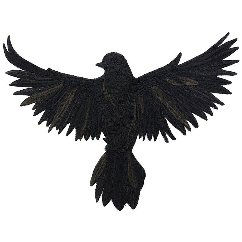 Novedad en parches de ala grande con diseño de águila y búho, parche bordado y motociclista en motocicleta para coser, parche DIY para insignia para ropa, tela para adhesivos para ropa
