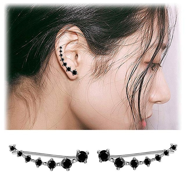 Reeti New High Quality Super Shiny Zircon 925 Sterling Silver Earring For Women Jewelry Wholesale Gift Ear Row Drop Earrings Aliexpress