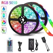 LED Strip Lights Flexible Lamp 5050 RGB Tape Diode 5M 10M 15M Controller Room Decor TV Computer Back