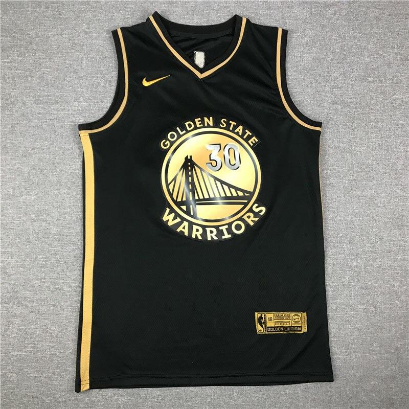 Camiseta NBA guerreros del Estado Dorado 30 Curry Irving Durant Jersey rápido...