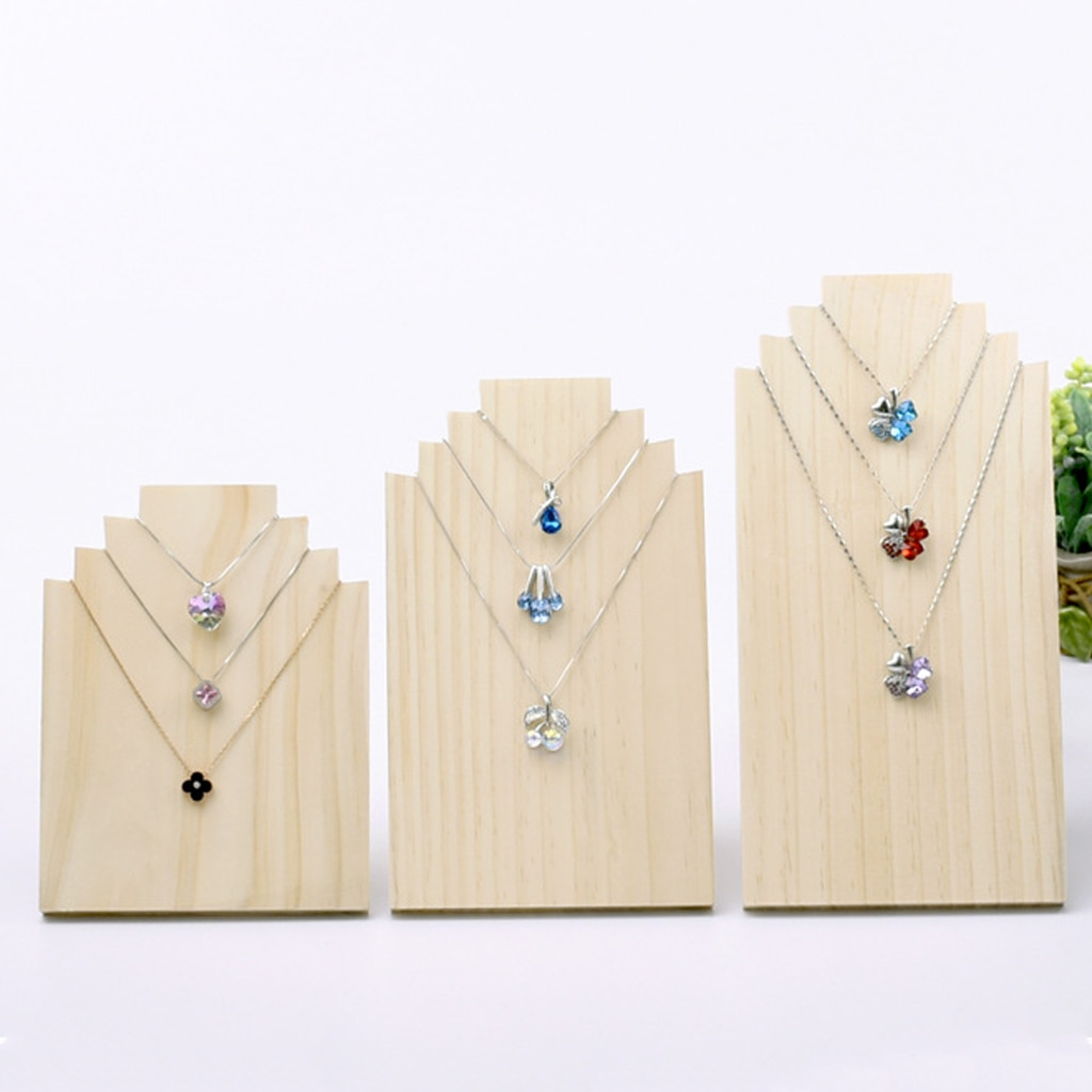 Soportes de exhibición de madera, soporte para collar, organizador de joyería sin terminar sin pintar, soporte de exhibición para collar de joyería