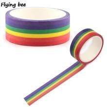 Flyingbee 15mmX5m Homoseksueel Liefde Washi Tape Papier Diy Planner Afplakband Gay Plakband Stickers Decoratieve Tapes X0497