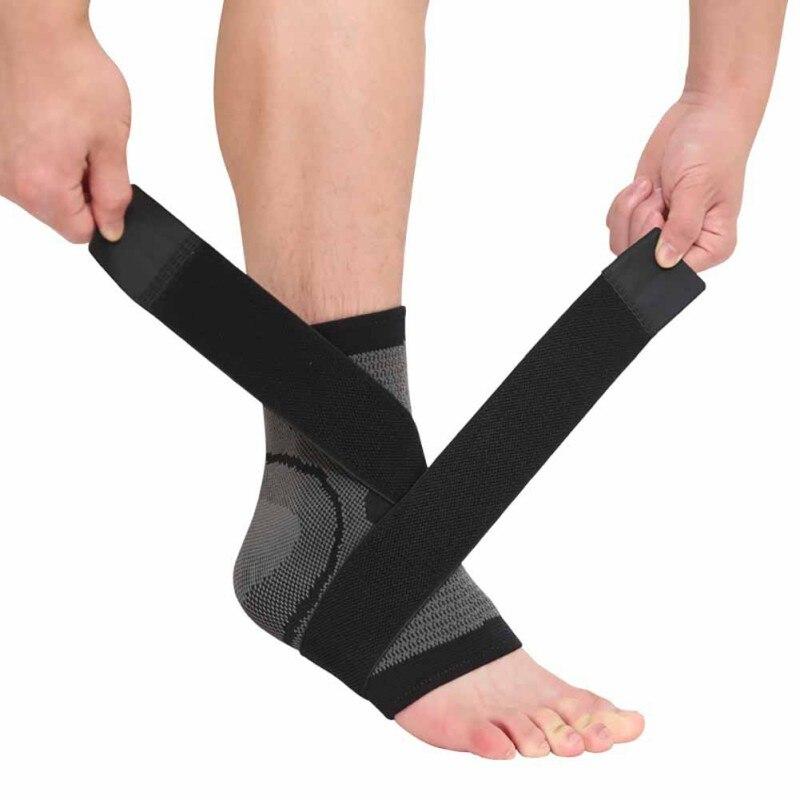 1 Uds 3D tejido elástico correa de Nylon seguridad tobillo baloncesto fútbol Taekwondo Fitness Protector de apoyo de Bádminton