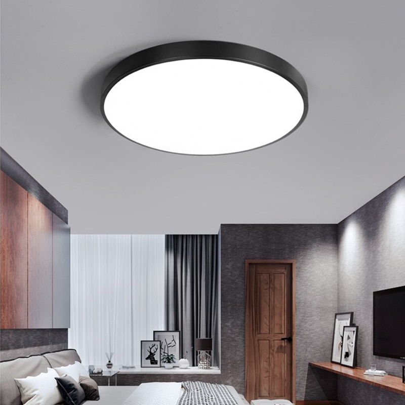 Lámpara LED de panel de luz de techo 220V impermeable para cocina, habitación de niños, dormitorio, Interior, iluminación Interior, accesorio de luz Led
