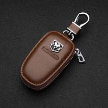 Leather Car Key Case Keychain Key Wallet Remote control bag For Dodge Challenger RAM 1500 Charger Av