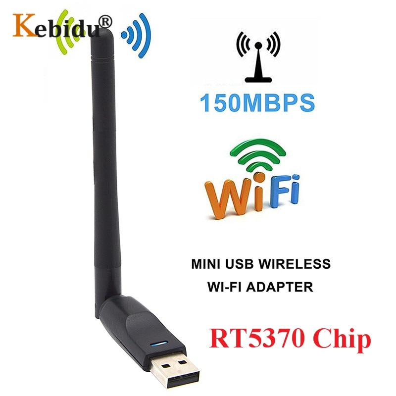 RT5370 WiFi USB, antena de red inalámbrica, Tarjeta para receptor de satélite Digital, decodificador Freesat V7 HD V8 Super IP-S2 para ordenador portátil
