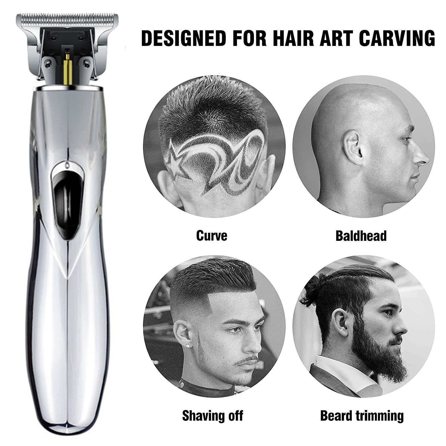 Retro Oil-Head Hair Clipper Professional Hair Trimmer for Men Adult Nick Carving Push White Shaved Head Home Barber Easy To Use enlarge
