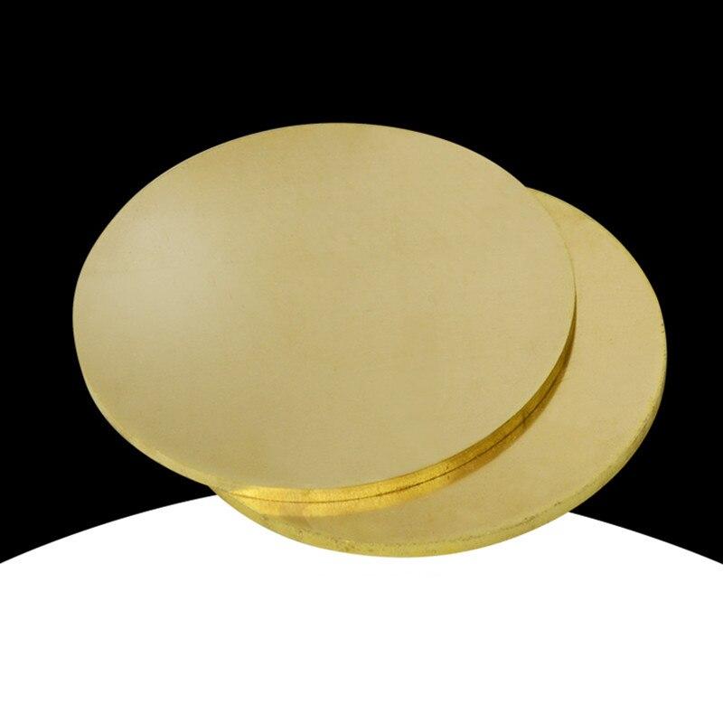 Placa de latón H62, placa redonda, junta de oblea de cobre delgada, corte láser, procesamiento de grabado personalizado
